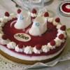 Малиновый мраморный торт
