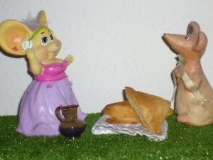 Пирожки из слоёного теста
