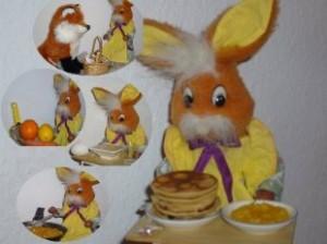 Заяц и блины